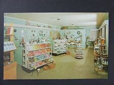 Centerville Indiana IN Lucille's Flowers Gifts Shop Interior View Postcard 1950s