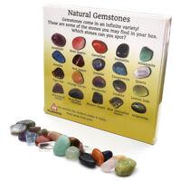 Set of 20 Healing Crystal Natural Gemstone Reiki Chakra Collection Stone Kit New