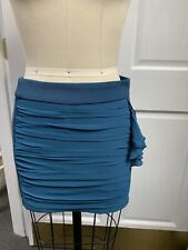 Nwot Sexy Teal Blue Mini Fall Club Party Mini Wiggle Bodycon Skirt Size M Medium