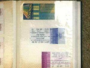 Vintage Concert Ticket Stubs - Great Condition - Plenty to Choose - Sacramento