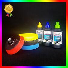 3M Fast Cut Plus + Extra Fine + Ultrafina + 3x NAT esponjas + Soporte para pulir