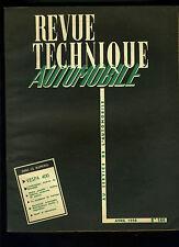 (C17) REVUE TECHNIQUE AUTOMOBILE VESPA 400 / Embrayage Hydrak MERCEDES BENZ