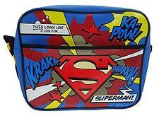 Superman Logo Courier Messenger Shoulder School Bag