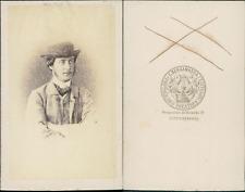 Charles Bergamasco, St Pétersbourg, acteur russe, à identifier Vintage CDV album