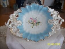 C.T. Carl Tielsch Antique Rare Porcelain Reticulated & Floral Scalloped Bowl