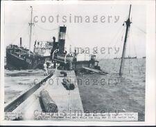 1949 Sinking Japanese Freighter Ship Kosi Maru Typhoon Victim Press Photo