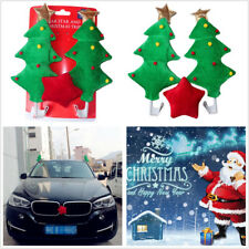 Car Costume Cute Decoration Kit Christmas Tree With Red Star Cloth Plastic Plush