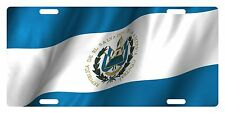 EL SALVADOR Flag Custom License Plate Salvadoran Emblem  Wave Version # 6