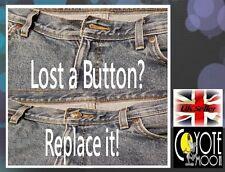 Rivetti RIVETTO Borchie Bottoni Jeans Denim in pelle da cucire 17 mm di Ricambio UK