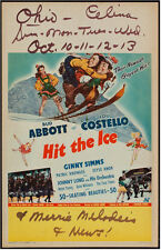 ABBOTT & COSTELLO MOVIE POSTER HIT THE ICE WINDOW CARD
