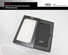 Audi Smartphonecase iPhone 12/12 Pro 3222100100 Schutzhülle schwarz Ringe silber