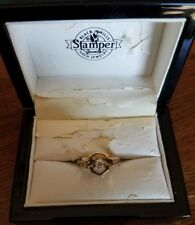 #392 NWT Harley-Davidson women's Stamper yellow gold and diamond ring, size 7
