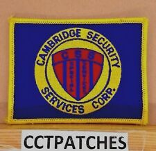 CAMBRIDGE SECURITY SERVICES CORP (POLICE) SHOULDER PATCH