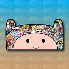 "Finn the Human Adventure Time STICKER BOMB 6"" JDM Custom Vinyl Decal Sticker"