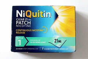 NiQuitin Clear 21mg Patch Nicotine - STEP 1 - 7 Patches