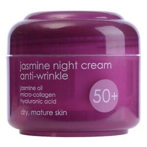 Ziaja JASMINE Night Face Cream  Anti-wrinkle Hyaluron Age 50+ Mature Skin 50 ml