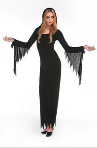 Adult Ladies Halloween Midnight Witch Fancy Dress Party Costume
