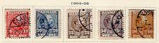 Denmark - Full 1904-05 King Christian IX set. Scott #65-69 USED