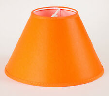 Lampenschirm  Orange Farbenfroh zum Aufstecken E14 rund Kegelig 20cm