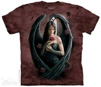 Angel Rose T-Shirt by The Mountain.  Fantasy Fairy Flowers Sorrow Sizes S-5X NEW