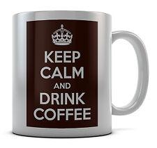 Keep Calm And Drink Coffee Mug Cup Gift Idea Present Birthday Coffee Tea