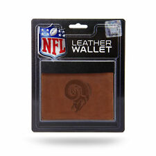 Los Angeles Rams Retro Embossed Brown Leather Trifold Wallet