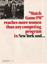 Gene Rayburn Match Game PM 1979 Ad- reaches more women in New York &../2 page Ad