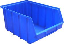 15 Stapelboxen Gr.4   Sichtlagerkästen Stapelkästen  340x222x157 mm blau PP  NEU