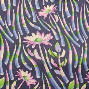 Stone Quills Blueberry Acacia by Tula Pink  By The yard cotton print fabric