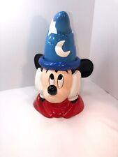 Vintage Disney Mickey Mouse Wizard / Sorcerer Ceramic Cookie Jar