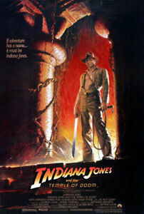Indiana Jones and the Temple of Doom (1984) Movie Poster A, Original, SS, Rolled