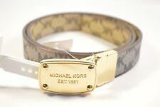 Michael Kors 552805C Gray Large Reversible Women's Belt