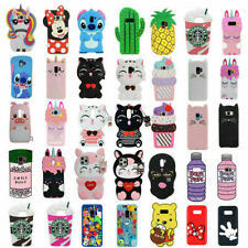 Cute 3D Cartoon Silicone Case Cover For Samsung Galaxy S10 9 S8 S7 Plus Note 5 4