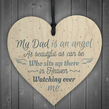 Dad Angel Memorial Plaque Sign Memory Fathers Day Keepsake Tree Decoration Gift