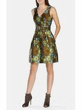 Karen Millen Natural Military Jacquard Dress Size 10 BNWT RRP £190