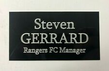 Steven Gerrard Glasgow Rangers - 130x70mm Engraved Plaque for Signed Memorabilia
