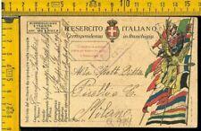 WW1 Posta Militare franchigia prima guerra a Pirelli Q 974 pm 90
