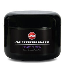 Autobright Carnauba Paste Wax Grape Fusion Wet Look Shine 250ml Free Applicator