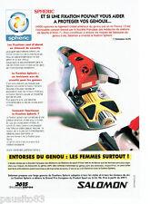 PUBLICITE ADVERTISING 096  1996  Salomon  fixation ski Spheric