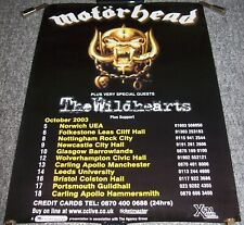 MOTORHEAD THE WILDHEARTS STUNNING POSTER FOR THE TOUR OF THE UK IN OCTOBER 2003