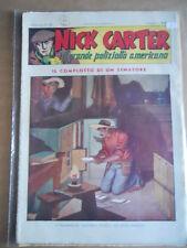 Nick Carter Il Grande poliziotto americano Anni 40 n°77 ed. NERBINI  [G369]