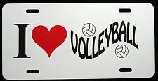 I LOVE PLAYING VOLLEYBALL   License Plate - New, Novelty, Fun
