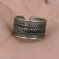 Big Adjustable Tibetan Copper 2-layer Lotus Filigree Amulet Ring from Nepal #1