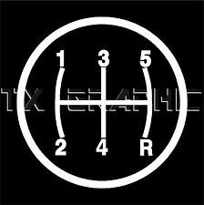 STICK SHIFT STICKER 5 SPEED MANUAL TRANSMISSION SYMBOL VINYL DECAL