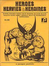1982 HEROES HEAVIES & HEROINES art portfolio (14 prints) KIRBY - KANE - BYRNE