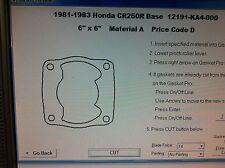 Honda CR250R Cylinder Base Gasket  1981 1982 1983 12191-KA4-000