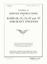 WRIGHT CYCLONE R-1820-65, -71, -73, -87 AND -97 HANDBOOK OF SERVICE INSTRUCTIONS