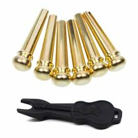 Guitar Bridge Pins 6pcs Copper Endpin 6 String Pegs With Electric Acoustic V3E4