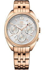Tommy Hilfiger Women's 1781487 Rose Gold Analog Watch with Silver Dial