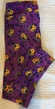 LuLaRoe TC Leggings - Floral - Purple w/Yellow Flowers - Made in China!